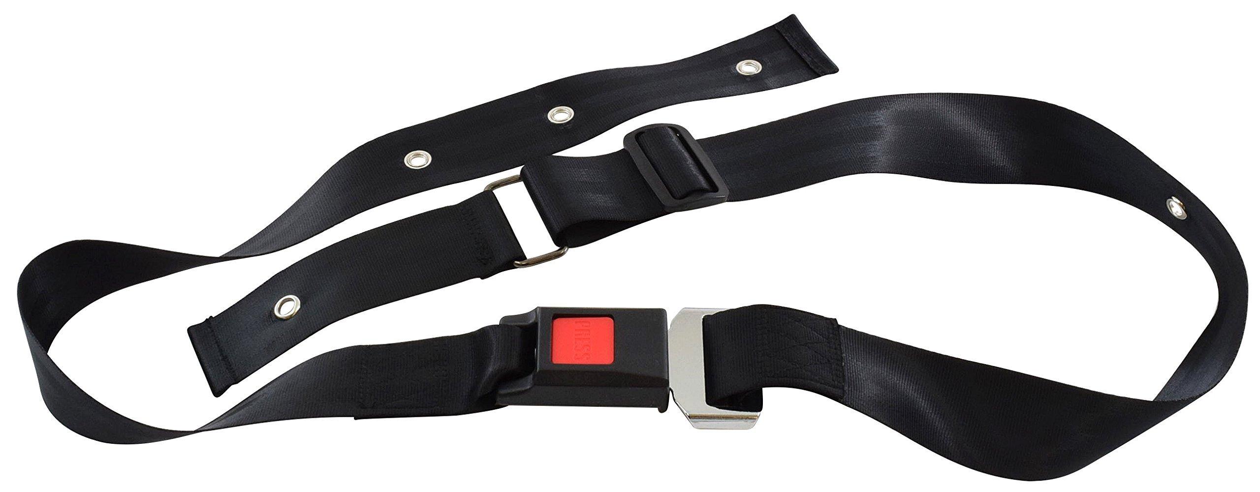 Secure SBNA-1 Quick Release Wheelchair Seat Belt, Black - Adjustable 42''-62''