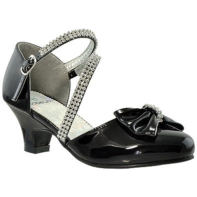 Amazon.com | Kids Dress Shoes Girls High Heels Sandals Rhinestone ...