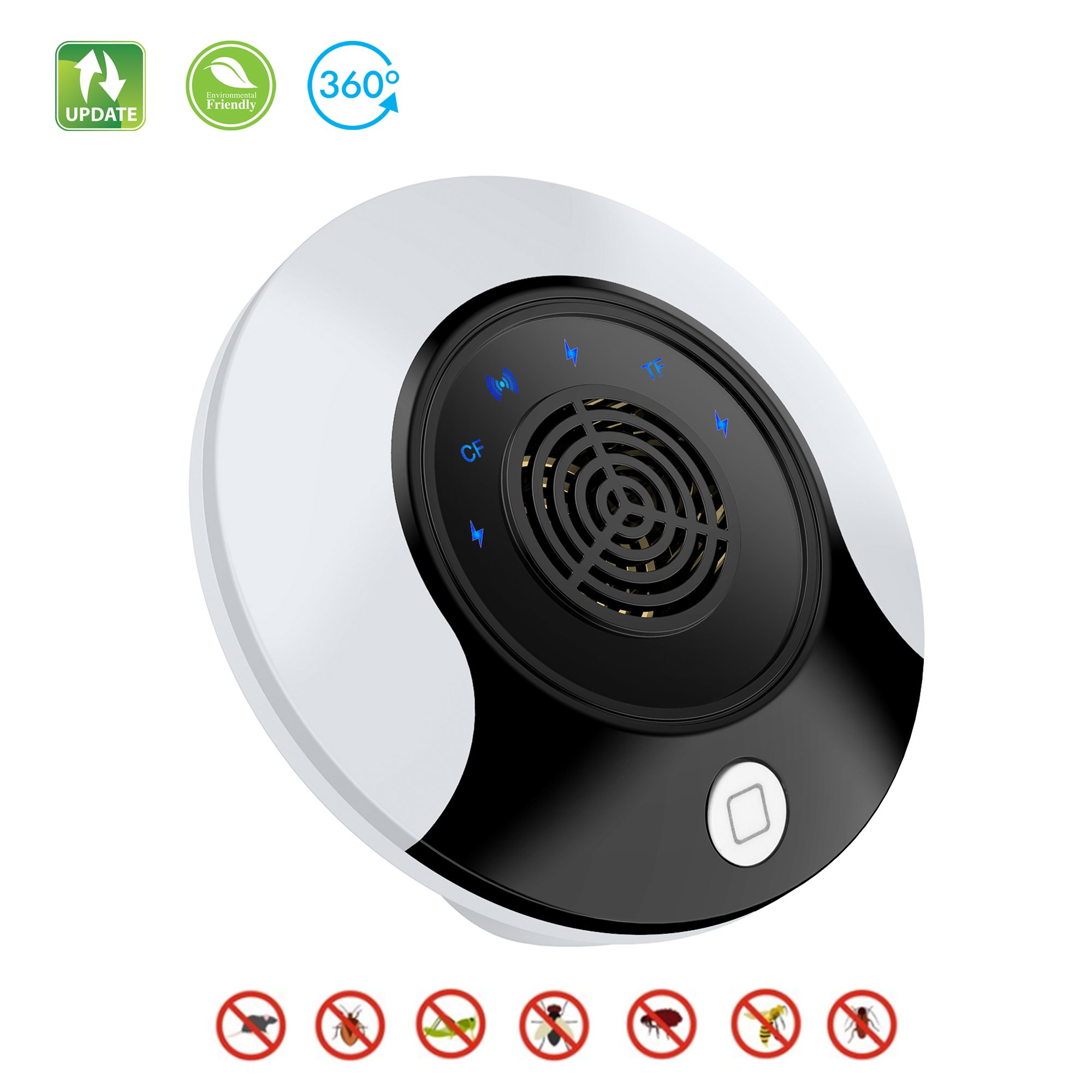 iFedio Ultrasonic Pest Repellent Insect Electronic Pest Control Bug Repellent for Mosquito Repellent Rodent Fly Cockroach Mouse Best Pest Repellent Plug in Home Indoor 2018 New