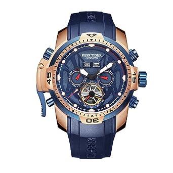 a9672ea16a4 Reef Tiger Luminous Sport Complicated Blue Dial Automatic Watch RGA3532