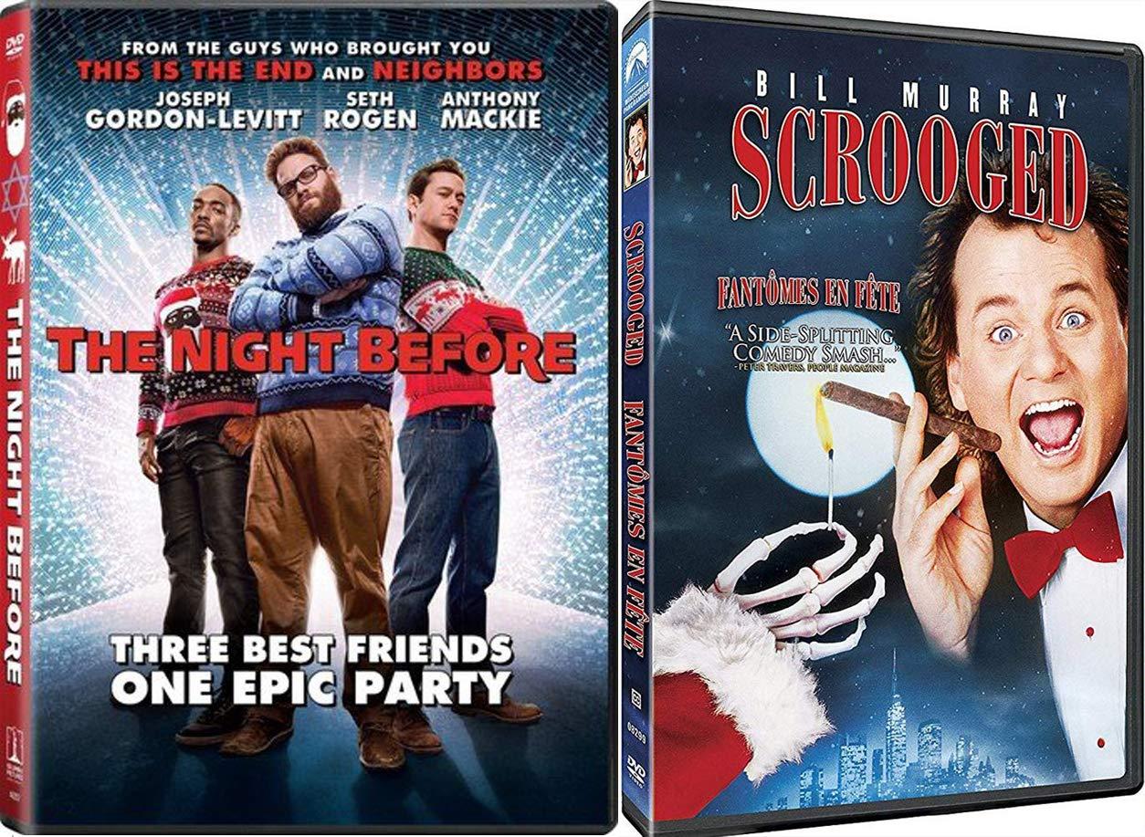 Nutcracka Ball Christmas Night Before 2-Movie Holiday DVD + Scrooged Fun Double Feature Bundle Modern Carol Bill Murray Holiday Blast of Cheer