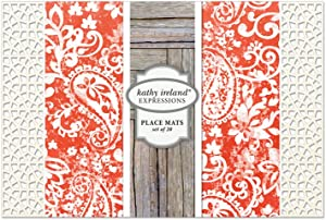 Kathy Ireland Expressions Paisley Park Placemats
