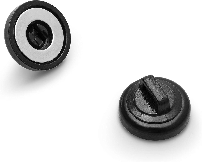 Holds Standard Zip Ties//Cable Ties. 12 Pack Black. Cable Holder for Cable Management 12 Black Cable Zip Ties Included HATSBI Multipurpose Magnetic Cable Zip Tie Mounts