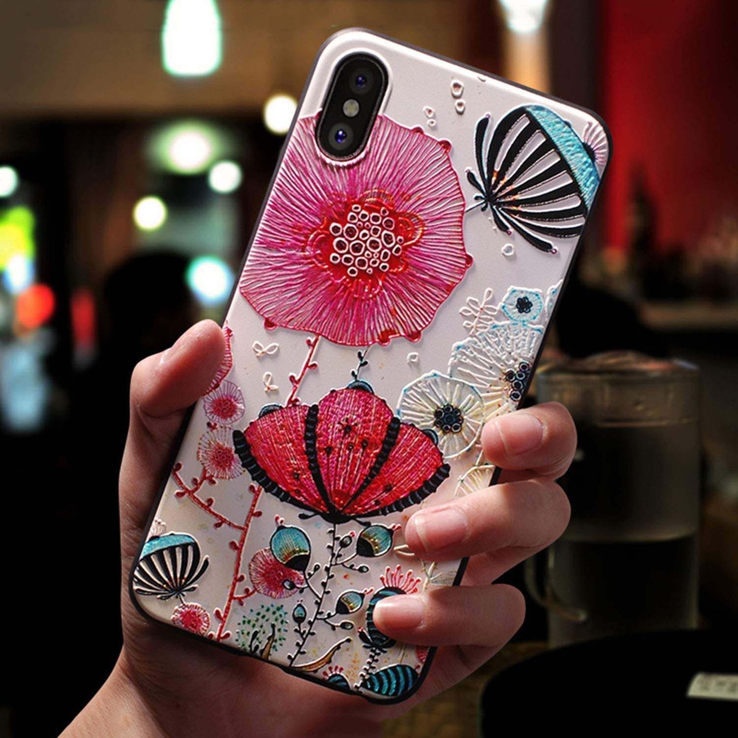 Amazon.com: 3D Embossed Flowers Case for Samsung Galaxy S6 ...