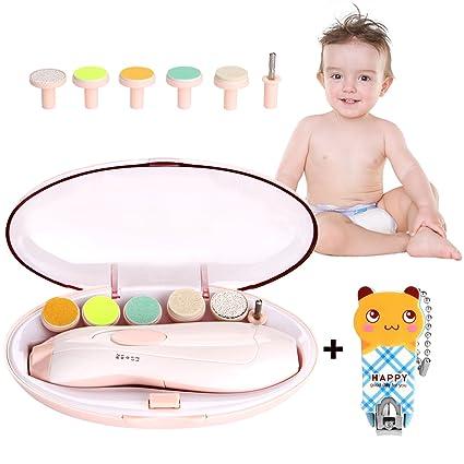 Lima de Uñas Bebe, WADEO Electrica Lima de Uñas Bebe dedo, kit de Cortaúñas Bebes/Set de Manicura y Pedicura para los Dedos y pies de Bebés y ...