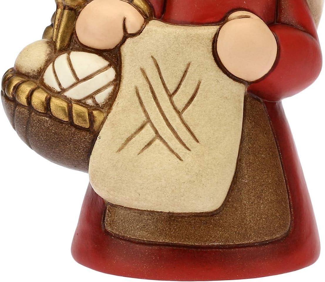 Thun Klassik Krippe Figur rote Strickerin 8x6 cm