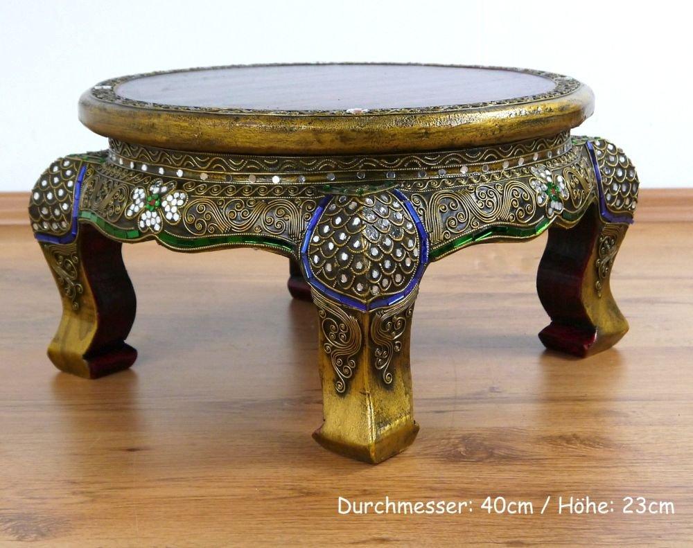 Asian Opium Table, Glass Mosaic Look, Round, Different Sizes, Handmade Thai  Furniture (Medium): Amazon.co.uk: Kitchen U0026 Home