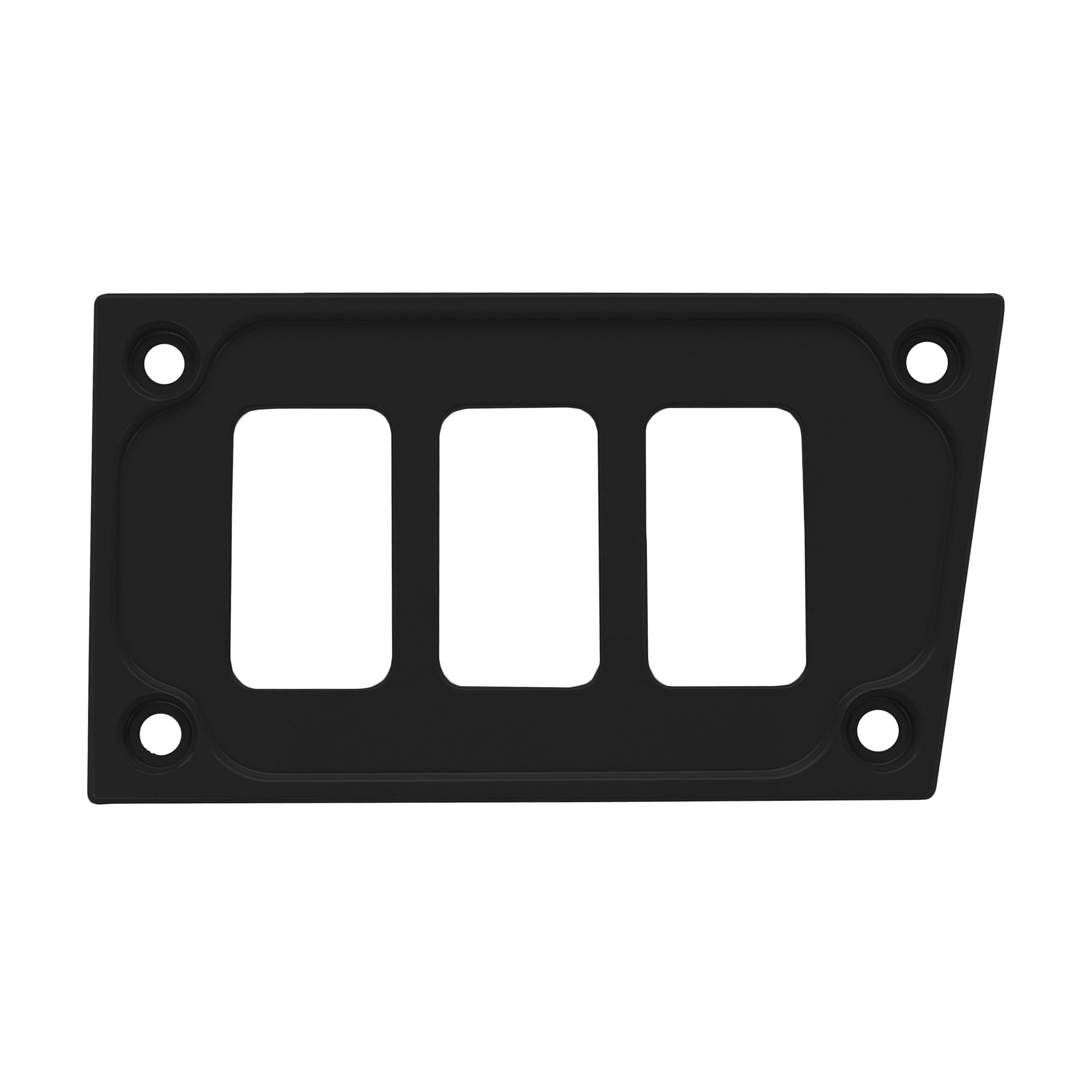 STV Motorsports Custom Aluminum Lower Left Dash Panel for Polaris RZR XP 1000 with 3 Switch Openings (no switches included) (Black)