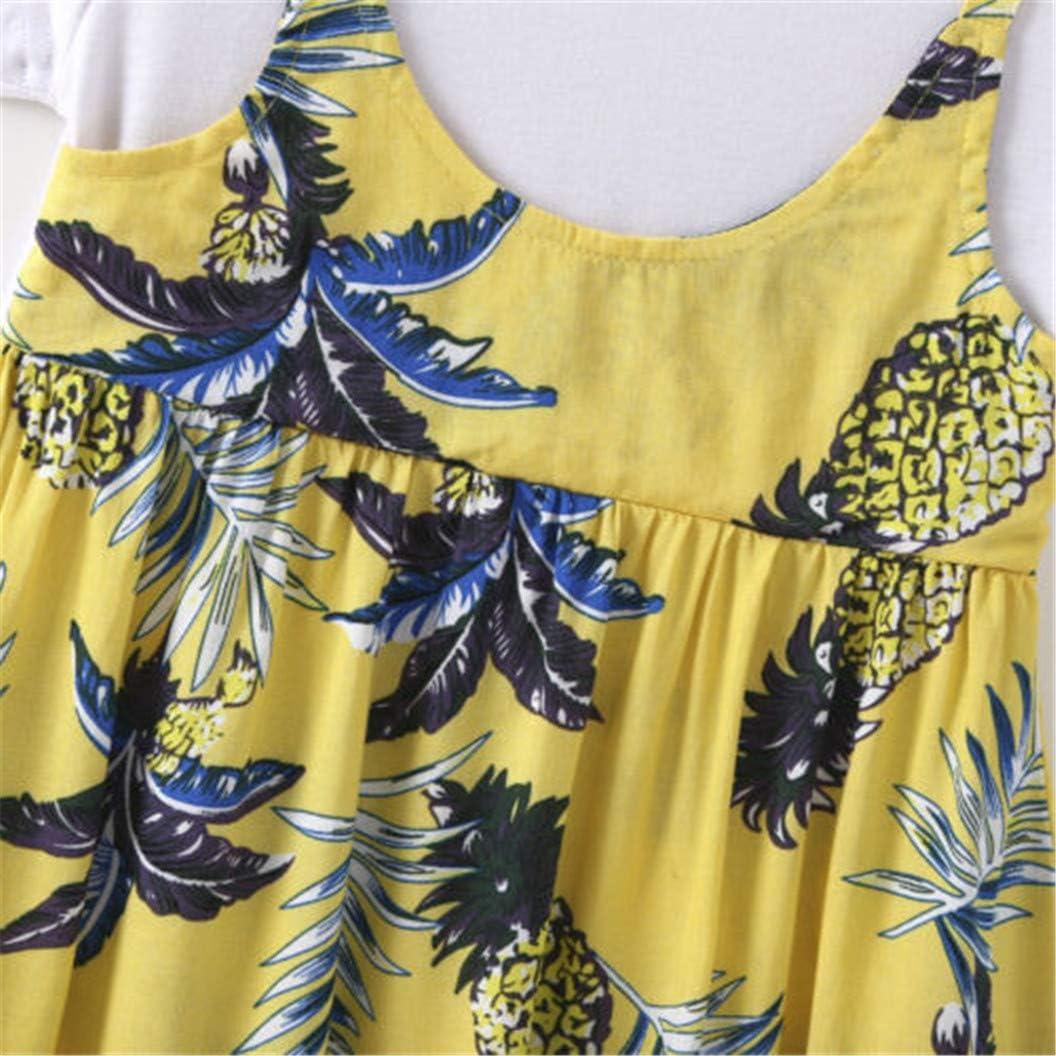 Ropa Bebe Ni/ñA Verano Madre E Hija Madre E Hija De Verano Familia Padre E Hijo A Juego Madre Hija Hija Floral Camiseta Vestido Moda Simple