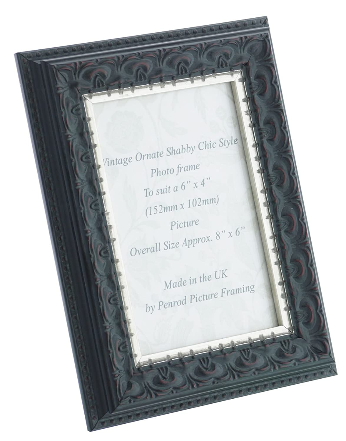 Penrod Picture Framing Handmade 6x4 inch Photo Frame. Ornate Shabby ...