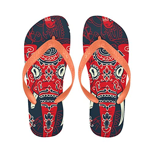 3f4cc55ca Image Unavailable. Image not available for. Color  INTERESTPRINT Non-Slip  Flip Flop Slippers