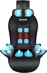 Compress-Back-Massager with Heat,Massage-Seat-Cushion for Car,Home or Office Chair Use,Massage Chair Pad Helps Relieve Stress and Fatigue for Neck,Back and Hips