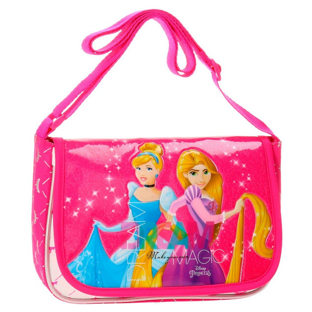 Pink Disney Princess Messenger Bag 1.65 liters 22 cm Rosa