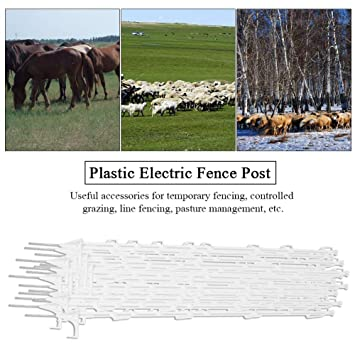 Paletti Per Recinzione Plastica.Gototop Gotopop Pali Per Recinzione Elettrica 20 Pezzi In