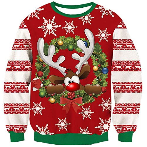 Cartoon Ugly Christmas Sweater: Amazon.com