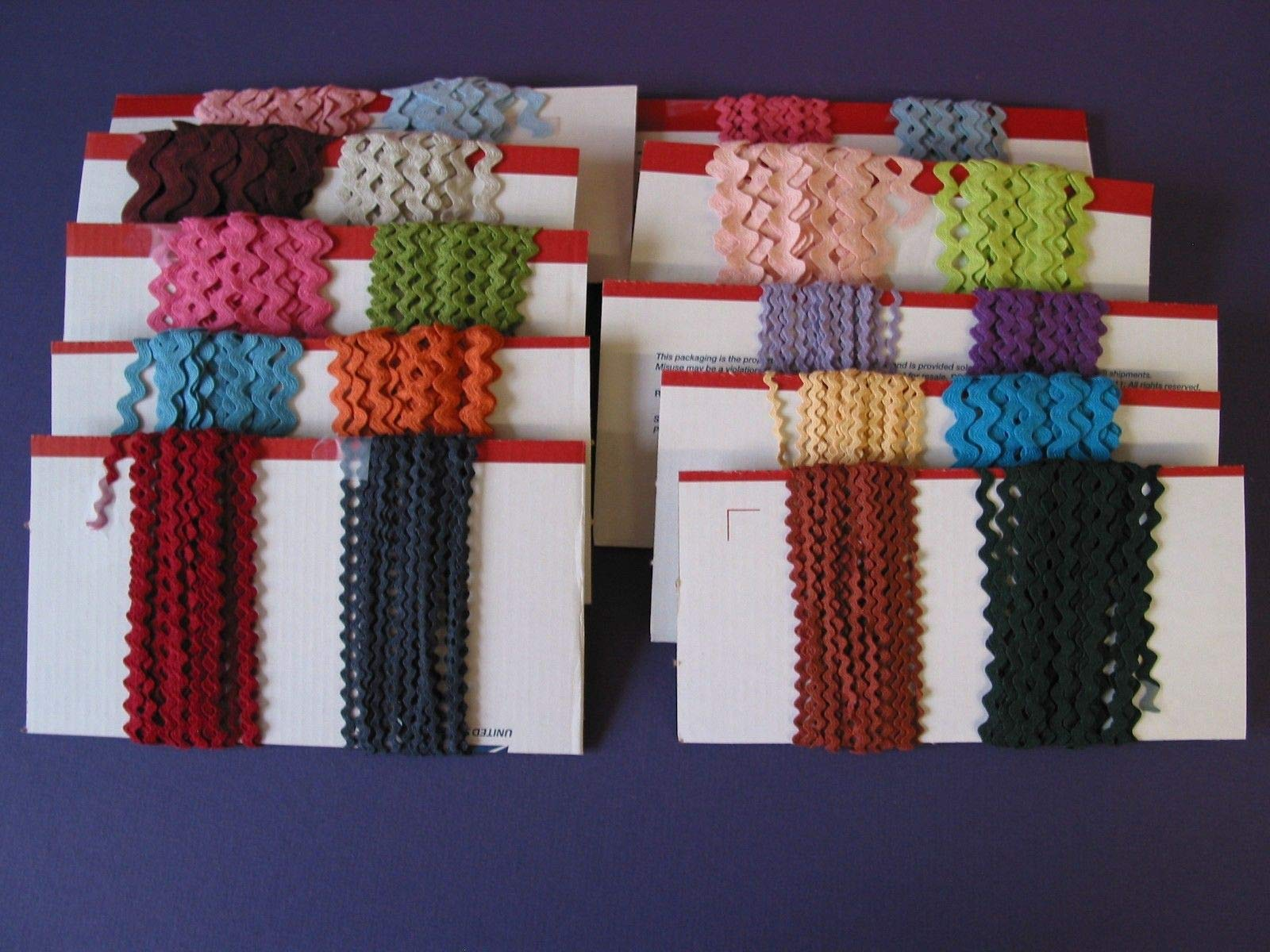 Sewing Craft DIY - RIC rac Assortment Cotton 5 yds 6 Different 30 yds Sale - Trims Variety of Colors, Styles and Materials by B07Q6CFYSW