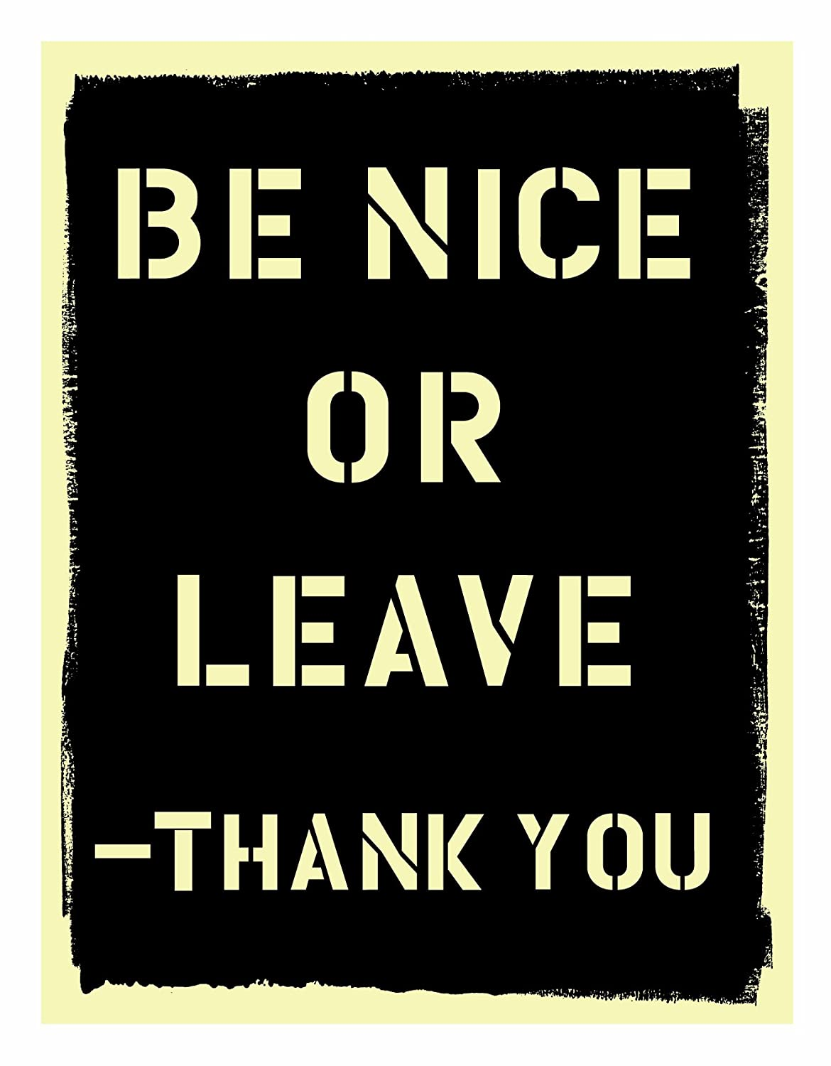 7c48631c564d Amazon.com  Blue Q Be Nice or Leave Magnet  Refrigerator Magnets  Home    Kitchen