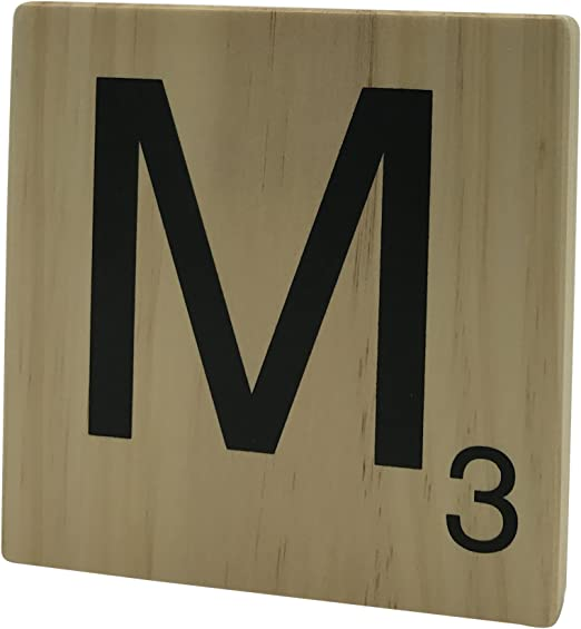 Original Way Scrabble Letra Decorativa M, Madera, Beige, 15x2x15 cm: Amazon.es: Hogar
