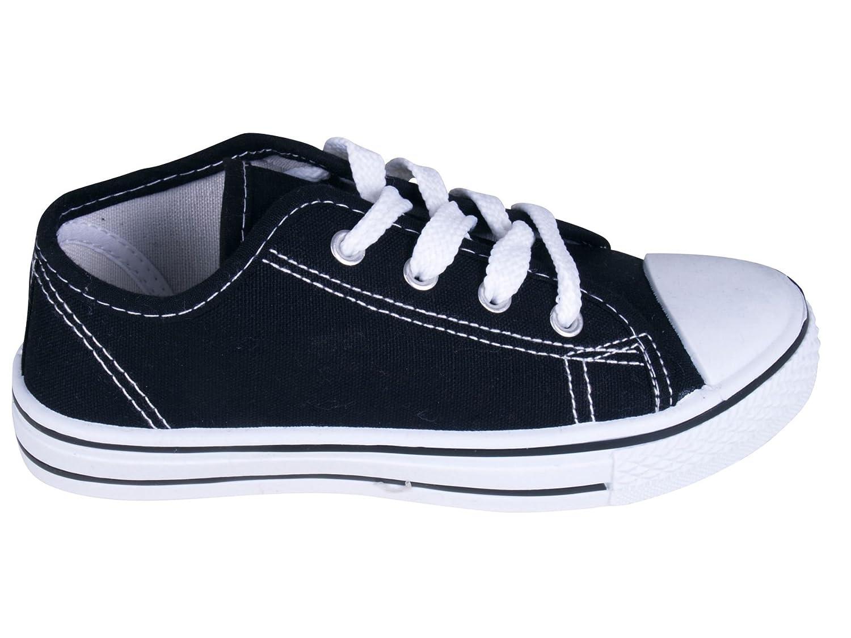 Kinder Jungen und Mädchen aus Gummi auf Leinwand Low Top Sneaker Pumps:  Amazon.de: Schuhe & Handtaschen
