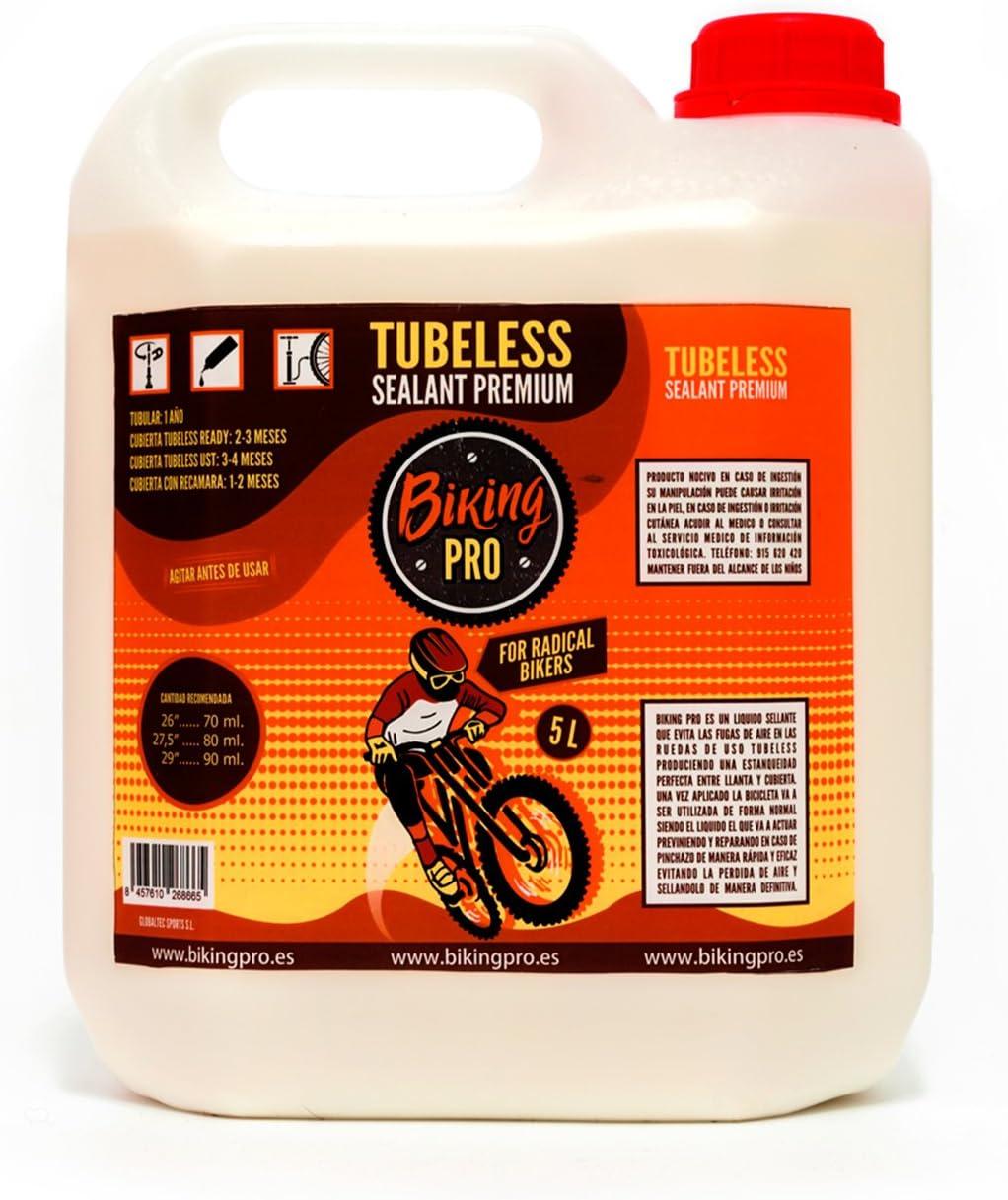 Biking Pro líquido tubeless garrafa 5L. Gama Premium: Amazon.es ...