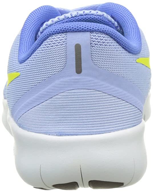 reputable site 107e9 5d96c Nike Mädchen Free RN Laufschuhe Türkis (Aluminum Electrolime Medium Blue Off  White 403) 38.5 EU  Amazon.de  Schuhe   Handtaschen