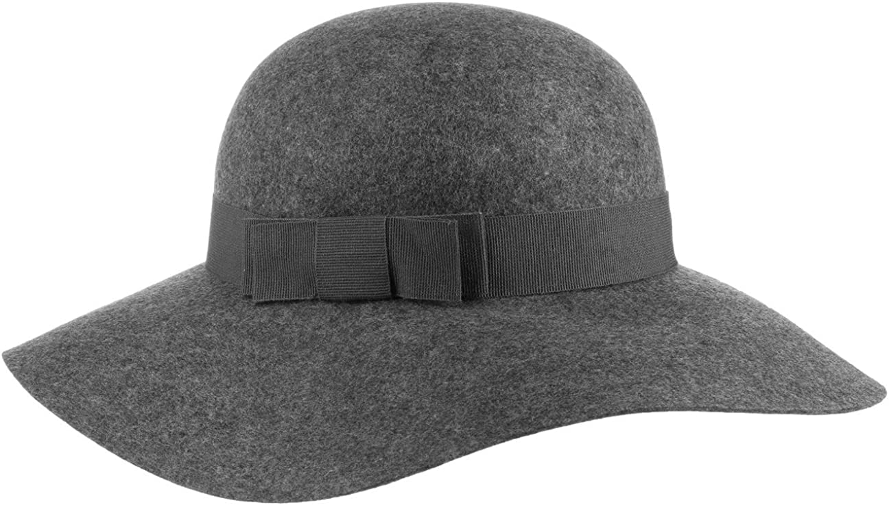 Made in Italy with Grosgrain Band Summer-Winter Lipodo Wool Felt Bowler Hat for Kids
