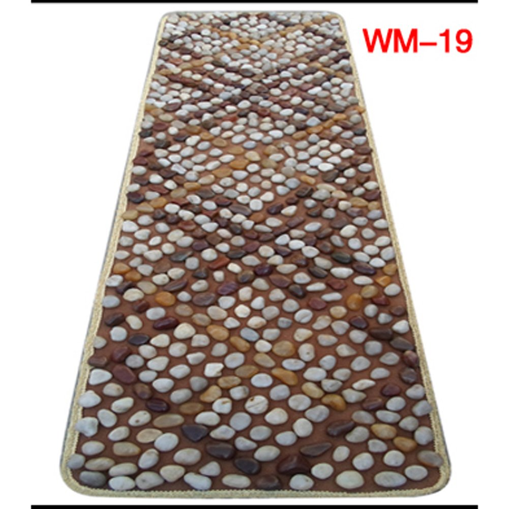 EliteShine Real Pebble Cobblestone Massage Mat Walkway Reflexology Health Care Pad Bathroom Mat Yoga Mat Bathoom Mat Indoor Health Keeping Corporate Gift by EliteShine