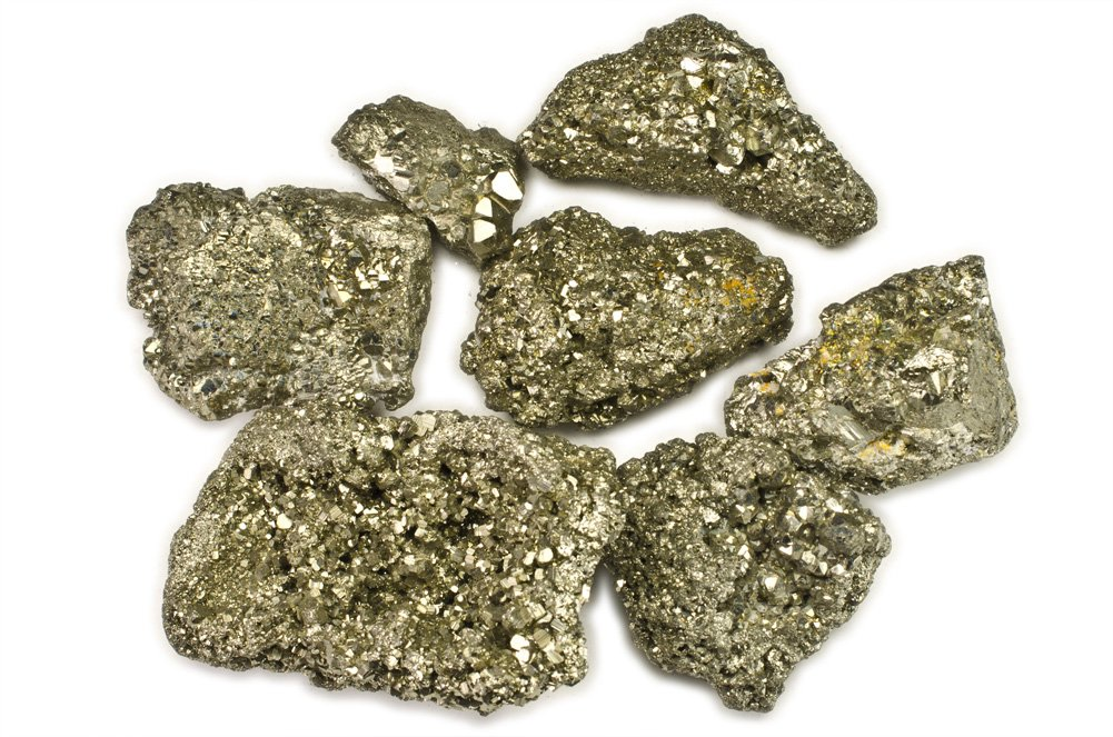 1 Inch Avg Lapidary Tumbling Rough Crystals for Cabbing Hypnotic Gems Materials: 1 lb Pyrite Fools Gold Medium Stones from Peru Healing #B: 1 Pound Lot
