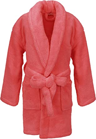 Kids Microfleece Robe for Girls and Boys Plush Soft and Cozy Bathrobe for Kids