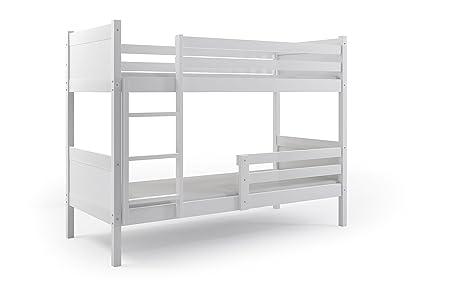 Etagenbett 180 90 : Interbeds etagenbett rino 200 x 90 weiß farbe mdf mit lattenroste