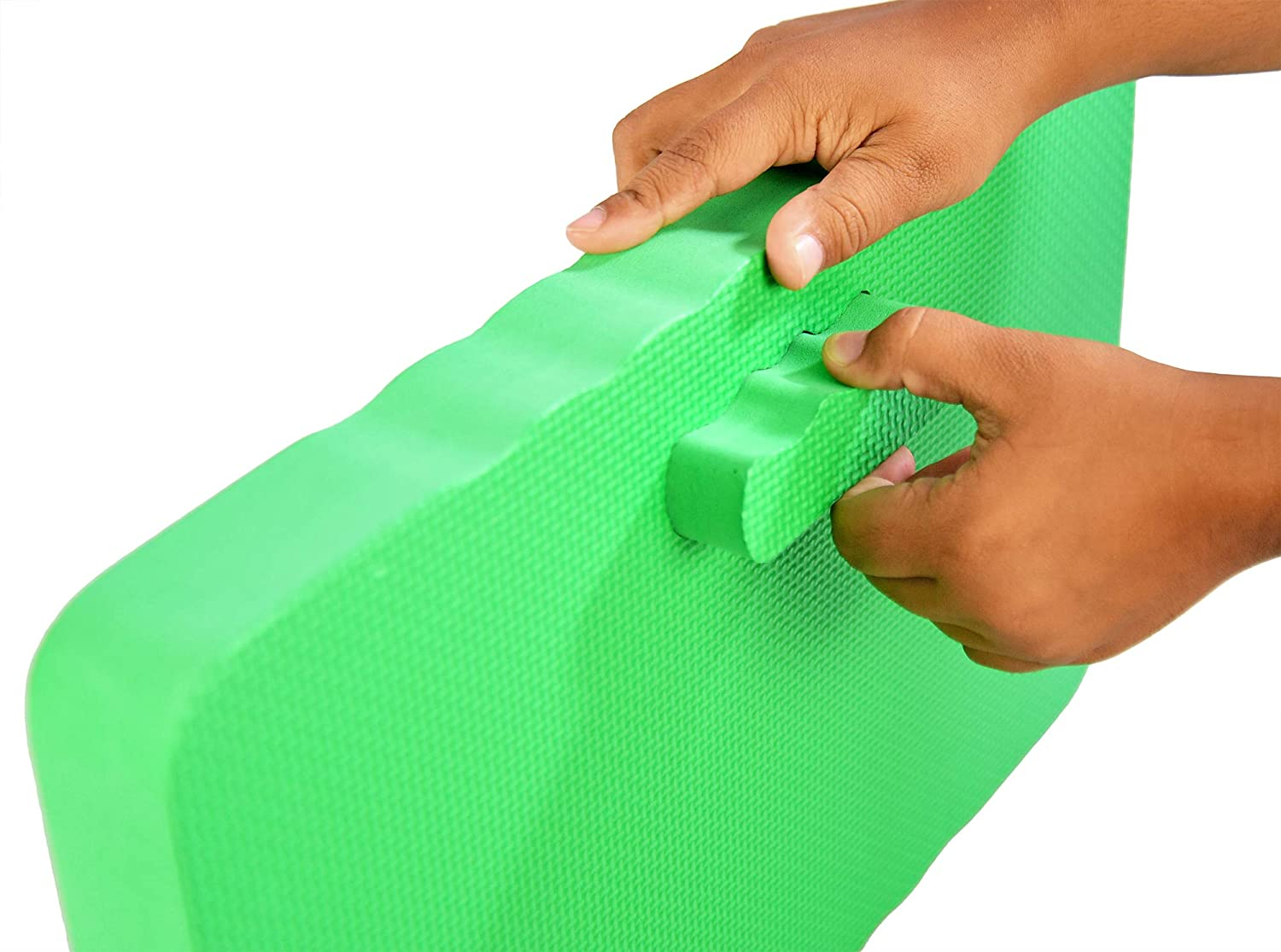 """Bathing Green Work Kneeling Cushion for Exercise 18 L x 11 W x 1 /¾/"""" H Home-X Gardening Kneeling Pad and More Foam Cushion Knee Pad for Cleaning"""