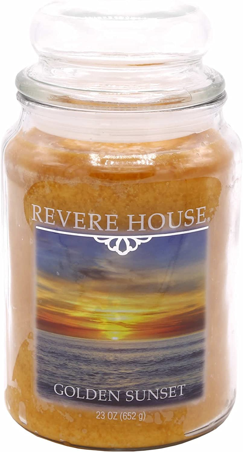 Fresh Ozonic Aldehydic Fragrance Candle-lite Revere House Scented Pure Cotton Single Wick 23oz Large Glass Jar Candle 23 oz Ivory