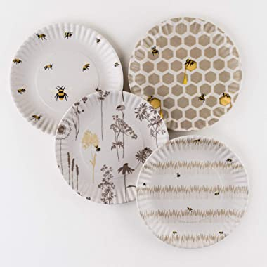 Busy Bees Melamine 9 Plates - Set of Four