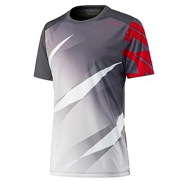 Head Vision Graphic - Camiseta de Tenis para Hombre Antracita/Blanco, S: Amazon.es: Deportes y aire libre