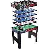 HLC-Table Multi-Jeux 6 EN 1 Billiard/Baby-foot/Air Hockey/Table Tennis/Jeu d'échecs/Backgammon