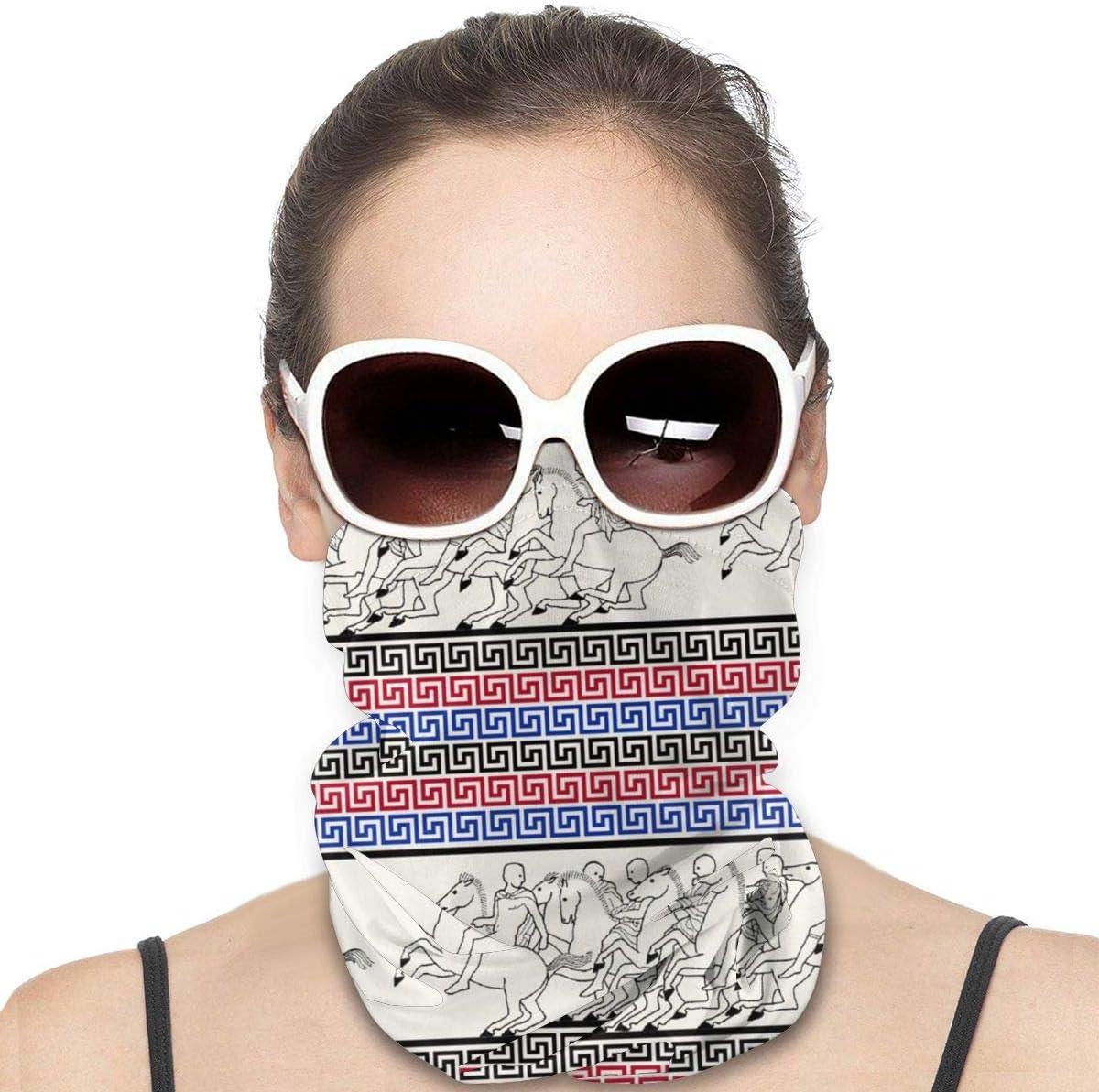 Nonebrand Unisex Headwear Face Magic bufanda máscara diadema cuello polainas polainas para deportes al aire libre, llaves griegas con carreras de caballos en mármol