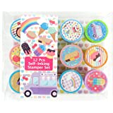 TINYMILLS 12 Pcs Ice Cream Stamp Kit for Kids Self Inking Stamps Gift Baby Shower Summer Party Favors
