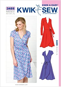 Kwik Sew K3489 Dresses Sewing Pattern, Size XS-S-M-L-XL