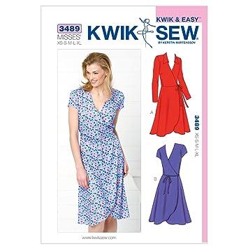 KwikSew Schnittmuster 3489 Kleid XS-S-M-L-XL: Amazon.de: Küche ...