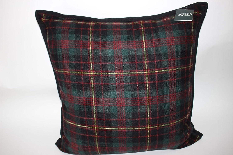Amazon.com: Ralph Lauren Tartan Plaid Wool Throw Pillow  Lauren