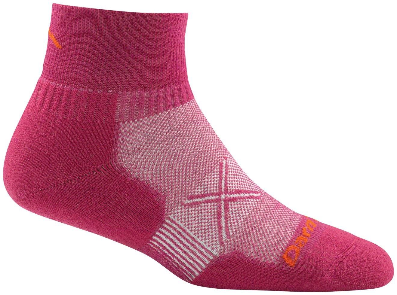 Darn Tough Vertex Quarter Crew Ultralight Cushion Socks - Women's Boysenberry Medium