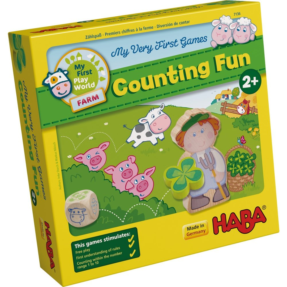 HABA My Very First Games Counting Fun A Farm Themed Game for Ages 2 Made in Germany