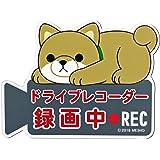 MEIHO ワンコ物語 ドライブレコーダー 録画中 マグネット 豆しば 茶 ME123