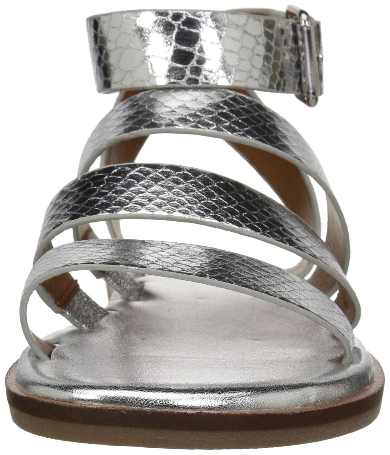 Franco Sarto Women's Kyson Flat Sandal B078VC8G4Y 10.5 B(M) US|Silver