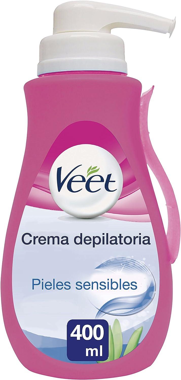Veet Crema Depilatoria Corporal para Mujer, con Dosificador, Piel ...