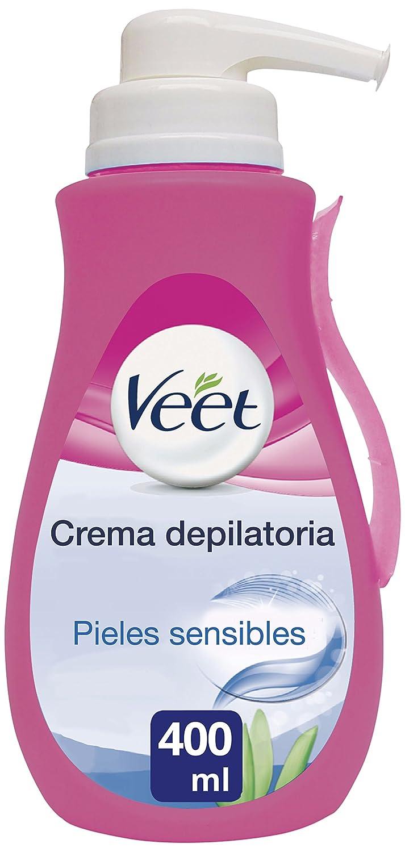Veet Crema Depilatoria - con dosificador, Piel Sensible, 400ml