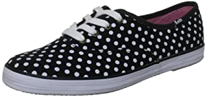 Keds Keds Women's Champion Dot Fashion Sneaker,Black/White,10 M Us