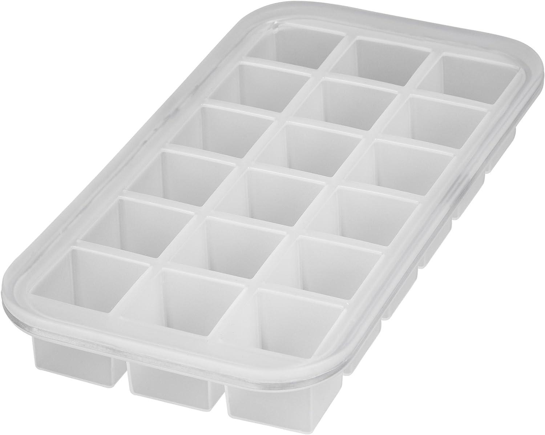 Levivo, Molde de silicona para 18 cubitos de hielo, Blanco, 27.8 x ...
