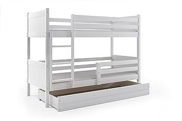 Etagenbett Mit Lattenrost Und Matratzen : Interbeds etagenbett rino cm weiß inkl lattenrost