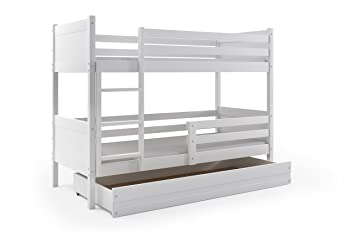Etagenbett Rino : Interbeds etagenbett rino cm weiß inkl lattenrost